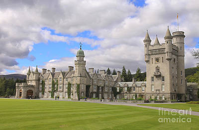 Balmoral Castle In Scotland Print by Patricia Hofmeester