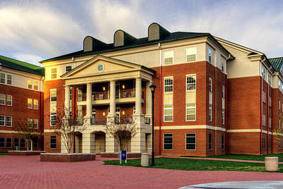 Balsam Residence Hall - Wcu Print by Greg and Chrystal Mimbs