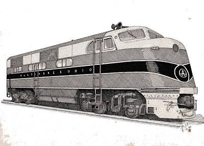 Baltimore And Ohio Diesel Engine Print by Calvert Koerber