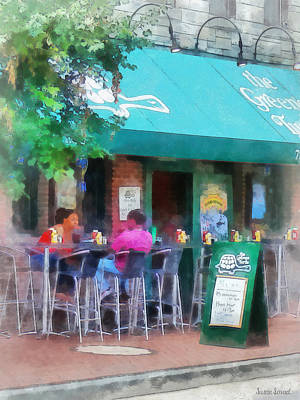 Baltimore - Happy Hour In Fells Point Print by Susan Savad