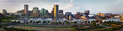 Baltimore Harbor Skyline Panorama Print by Susan Candelario