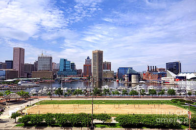 Volley Photograph - Baltimore Inner Harbor Beach - Generic by Olivier Le Queinec
