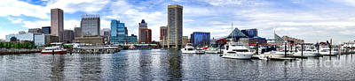 Maryland Photograph - Baltimore Inner Harbor Marina - Generic by Olivier Le Queinec