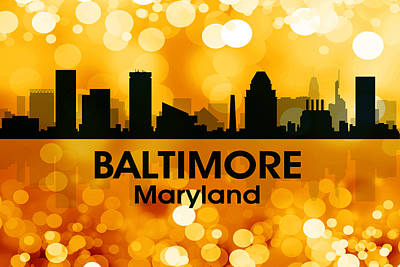 Md Digital Art - Baltimore Md 3 by Angelina Vick