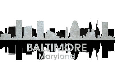 Baltimore Md 4 Print by Angelina Vick