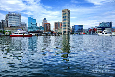 Maryland Photograph - Baltimore On The Water by Olivier Le Queinec