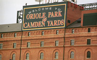 Mural Photograph - Baltimore Orioles Park At Camden Yards by Frank Romeo