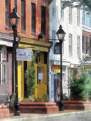 Sidewalks Photograph - Baltimore - Quaint Fells Point Street by Susan Savad