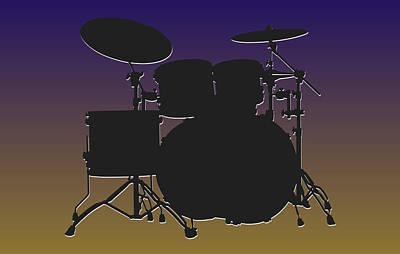 Drum Photograph - Baltimore Ravens Drum Set by Joe Hamilton