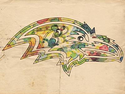 Raven Digital Art - Baltimore Ravens Poster Vintage by Florian Rodarte