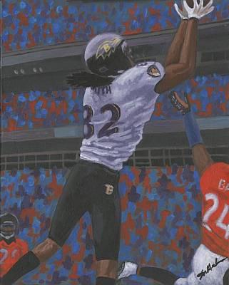 Baltimore Ravens Torrey Smith Print by Mark Herndon