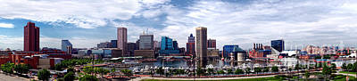 Maryland Photograph - Baltimore Skyline by Olivier Le Queinec