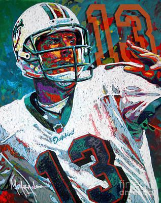 Acrylic Sports Painting - Bambino D'oro Dan Marino by Maria Arango