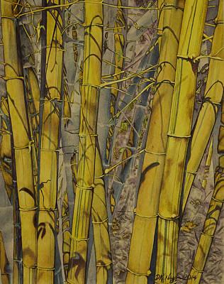 Tropical Art Painting - Bamboo Grove by DK Nagano
