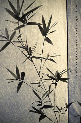 Bamboo Leaves Print by Jenny Rainbow