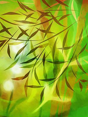 Deep Mixed Media - Bamboo Light by Lutz Baar