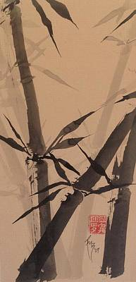 Bamboo Study #1 On Tagboard Print by Robin Miller-Bookhout