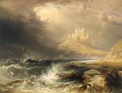 Northumberland Painting - Bamborough Castle by William Andrews Nesfield