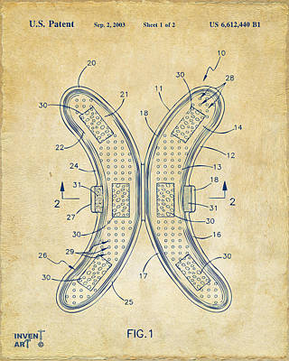 Lol Drawing - Banana Protection Device Patent Vintage by Nikki Marie Smith