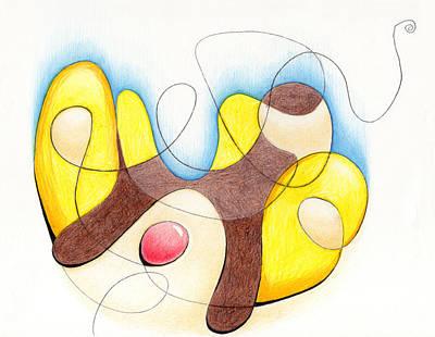 Austin Drawing - Banana Split by Ismael Cavazos