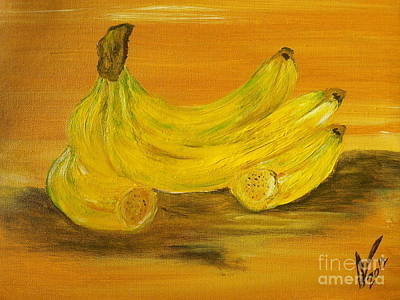 Jamaican Art Painting - Bananas by Collin A Clarke