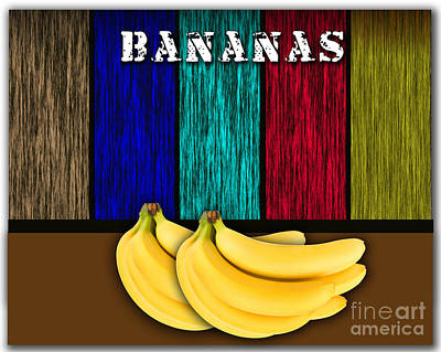Fruit Mixed Media - Bananas by Marvin Blaine