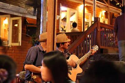 Band At Palaad Tawanron Restaurant - Chiang Mai Thailand - 01131 Print by DC Photographer
