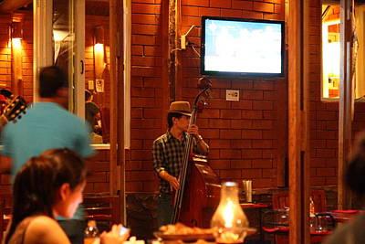 Band At Palaad Tawanron Restaurant - Chiang Mai Thailand - 01132 Print by DC Photographer