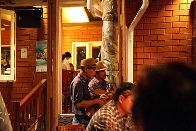Band At Palaad Tawanron Restaurant - Chiang Mai Thailand - 01135 Print by DC Photographer