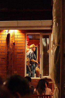 Band At Palaad Tawanron Restaurant - Chiang Mai Thailand - 01138 Print by DC Photographer