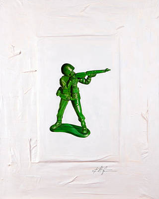 Toy Soldiers Painting - Band Of Brothers No.1 by Karl Melton