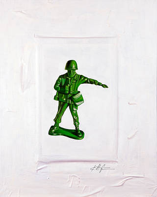 Toy Soldiers Painting - Band Of Brothers No.3 by Karl Melton