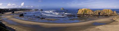 Sea Photograph - Bandon Beach Panorama by Andrew Soundarajan