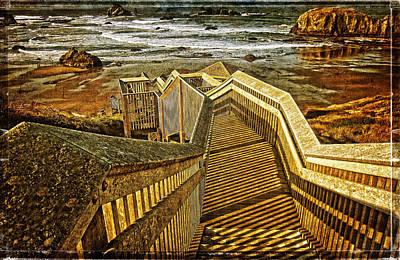 Gallery Website Photograph - Bandon Beach Stairway by Thom Zehrfeld