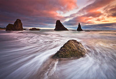 Bandon Evening Lights Print by Darren  White