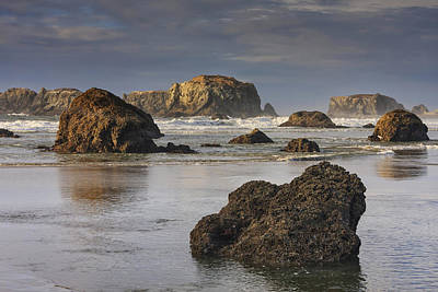 Bandon Sea Stacks Print by Mark Kiver
