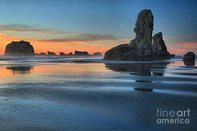 Bandon Stacks Print by Adam Jewell