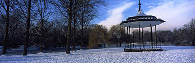 Bandstand In Snow, Regents Park Print by Panoramic Images