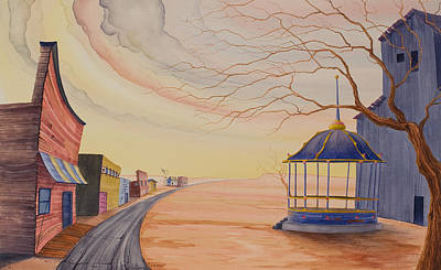Gazebo Painting - Bandstand by Scott Kirby