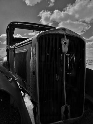 Photograph - Bandw Rusty Route 66 Az by Rob Hallifax