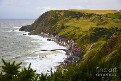 Ocean Photograph - Banff Fishing Village by Andrew Wood