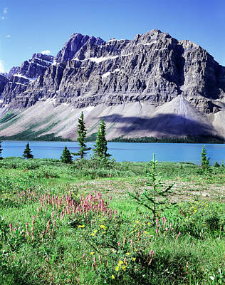 Bow Lake Photograph - Banff National Park, Mountain by Christopher Talbot Frank
