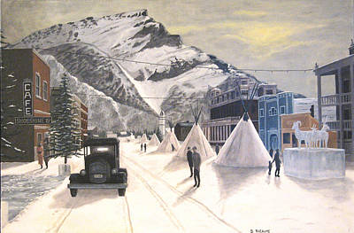 Banff Winter Carnival Original by Dave Rheaume