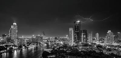 Bangkok Lightning Print by Stefan Schilbe