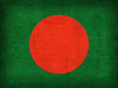 Bangladesh Mixed Media - Bangladesh Flag Vintage Distressed Finish by Design Turnpike