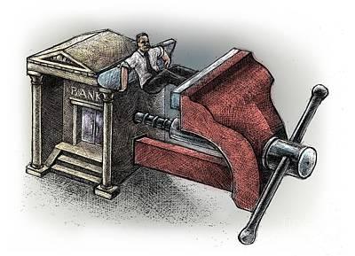 Debt Drawing - Bank-2 by Chris Van Es