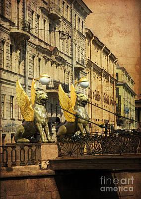 Bank Bridge Print by Elena Nosyreva