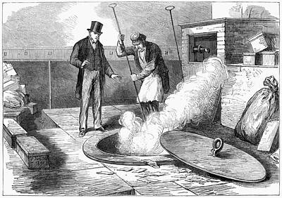 Burning Money Painting - Bank Of England, 1872 by Granger