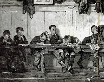 Bank Of Punished In A School Print by Prisma Archivo