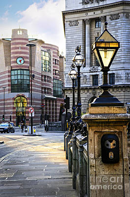 Lamppost Photograph - Bank Station In London by Elena Elisseeva